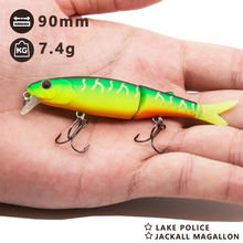 Hunthouse fishing minnow lures pike 9cm zandar bass lake jointed bait equipped with VMC hook crankbait