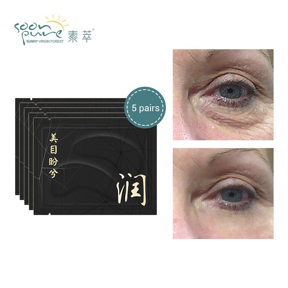 SOONPURE 5 Pairs Crystal Collagen Anti-Wrinkle Eye Patches Serum Eye Mask  Sleep Masks Eye Care Remove Dark Circle Eye Bag Patch