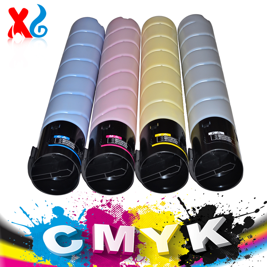XG CMYK Japan High Quality Toner Cartridge for Konica Minolta Bizhub C224 C284 C364 C224e C284e C364e TN321 Copier Toner developer unit dv512 compatible konica minolta bizhub c224 c284 c364 c454 c554 bk m c y 4pcs lot