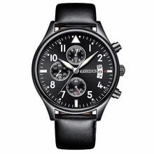2017 New Brand Fashion Men Sports Watches Men's Quartz Hour Date Clock Man Leather Strap Military Army Waterproof Wrist watch