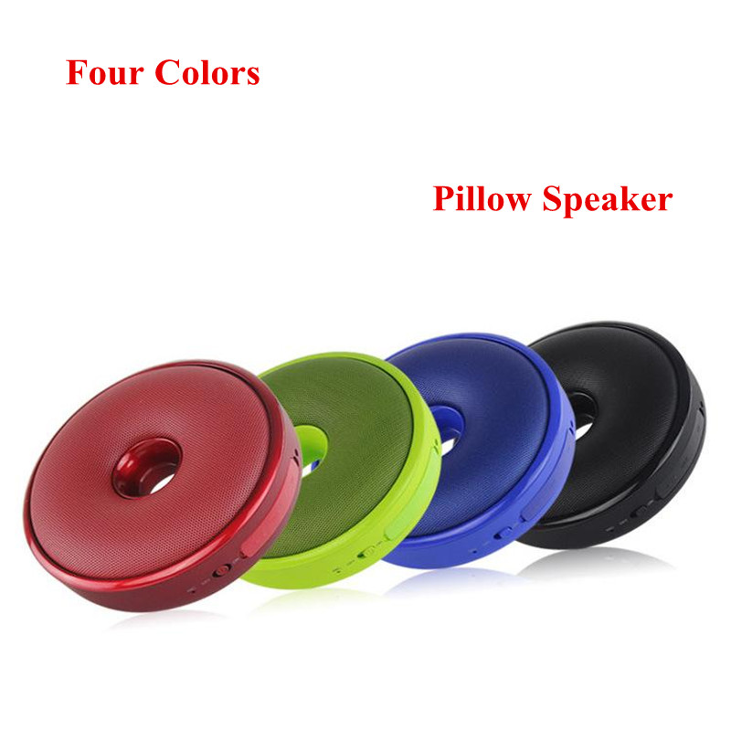 four color pillow bluetooth speakers wireless card speaker small stereo subwoofer hands free calling support customized gifts