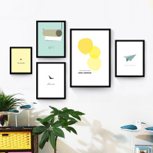 The small fresh creative combination of painting the living room sofa wall paintings inside restaurant children decorat