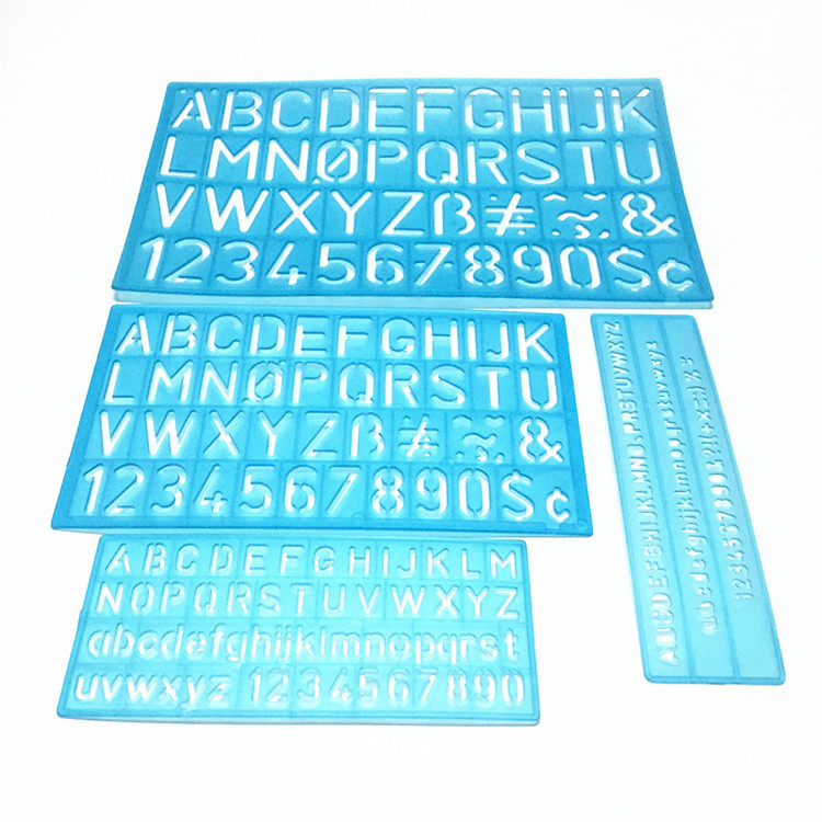 Digital Template Ruler, Alphabetic Template Ruler, English Template, Flexible Ruler, Multi-functional Suit Flexible Ruler