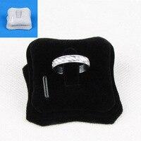 TONVIC Wholesale 4PCS Velvet Ring Earring Display Stand Holder Jewelry Rack Black/Gray