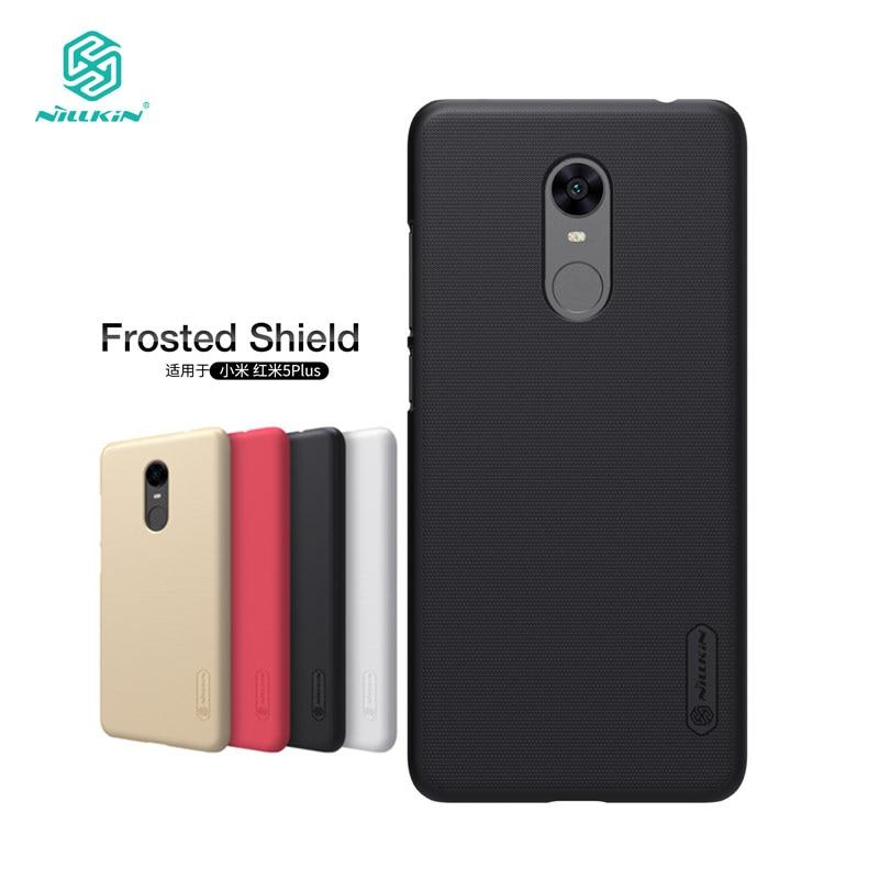 Nillkin Xiaomi Redmi 5 Más Caso Frosted Shield Duro de la Contraportada caso para Xiaomi Redmi 5 Plus de 5.99 pulgadas Protector de Pantalla de Regalo