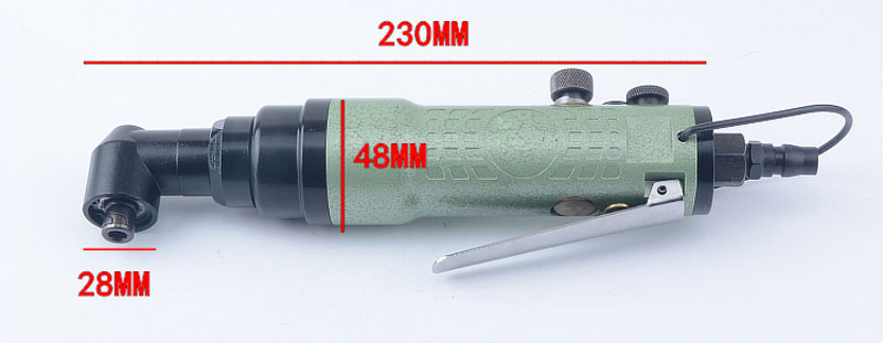 Right Angle Pneumatic Screwdriver 90/° Industrial Screwdriver 8H Elbow Wind Batch
