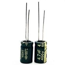 30 ชิ้น/ล็อต 400V 4.7UF ความถี่สูงความต้านทาน 8*12 20% RADIAL อลูมิเนียม Electrolytic Capacitor 4700NF 20%