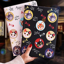 Tablet protective case For ipad pro 10.5 Flip smart stand cover pu leather Cute cat Cartoon illustration Case For ipad pro 10.5 lofter ladybird illustration protective pu leather case cover stand for retina ipad mini white