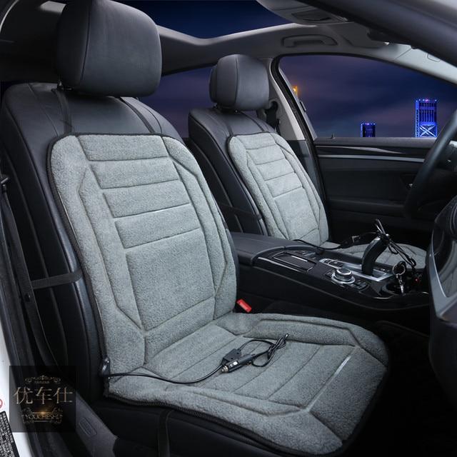 Car Electric Heating Cushion Winter 12v Heated Pad Seats Heater Warmer Single Seat