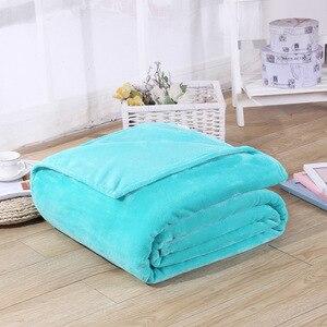 Image 5 - CAMMITEVER 5 Größen Flanell Einfarbig Decke Sofa Bettwäsche Wirft Weiche Plaids Winter Flache Bettlaken Hause