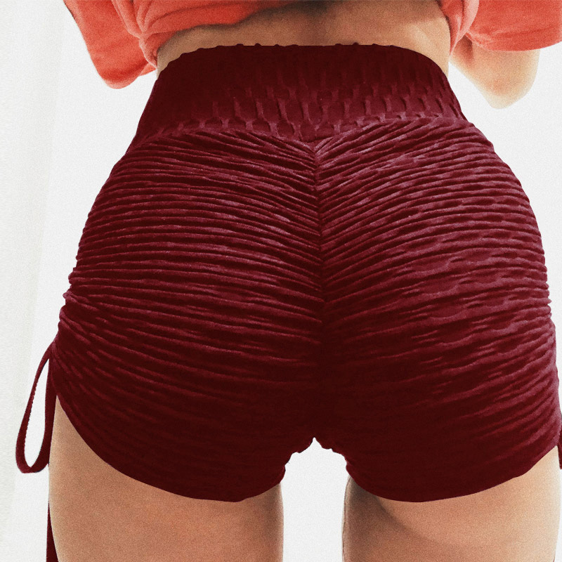 Summer Women Shorts High Waist Shorts Women Solid Lace Up Shorts Mujer Sexy Push Up Workout Shorts Femme 3Color