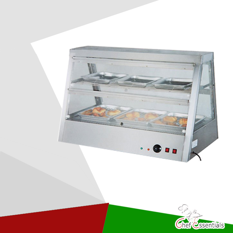 PKJG-DH2X4 Fast Food Equipment for Supermarket 2-Layer Electric Display Showcase fast food leisure fast food equipment stainless steel gas fryer 3l spanish churro maker machine