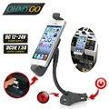 180 град. вращающийся автомобильный телефон зарядное устройство держатель для iPhone 6 iPhone 5 USB автомобильный держатель зарядное устройство высокое качество PC + ABS черный цвет
