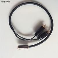 IWISTAO HIFI Kabel RCA naar 3.5mm Vrouwelijke Plug Audiokabel voor DAC & Voorversterker Uitgang Hoofdtelefoon Aansluiten 4N Oxyge Gratis verzending