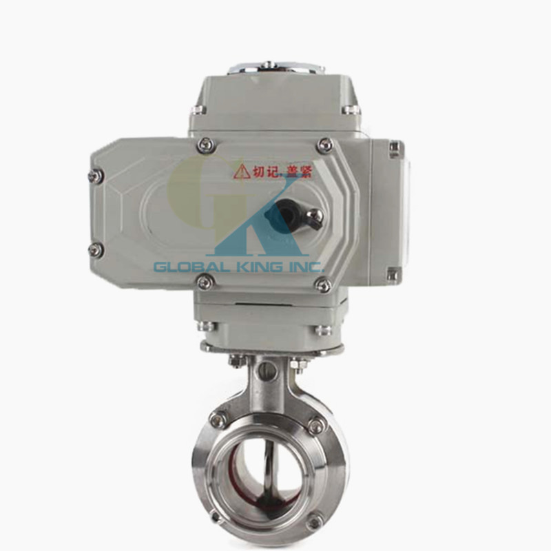 2 Sanitary Stainless Steel 304 Motorized Butterfly Valve