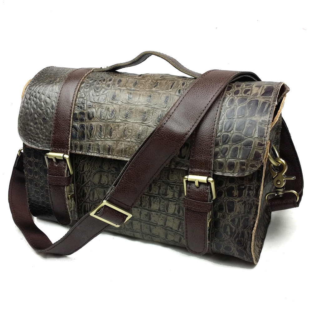 JOYIR 2017 Leather Handbag Vintage Women Messenger Bag Crossbody Satchel Briefcase crocodile Bolsas Femininas Messenger Bags цена 2017