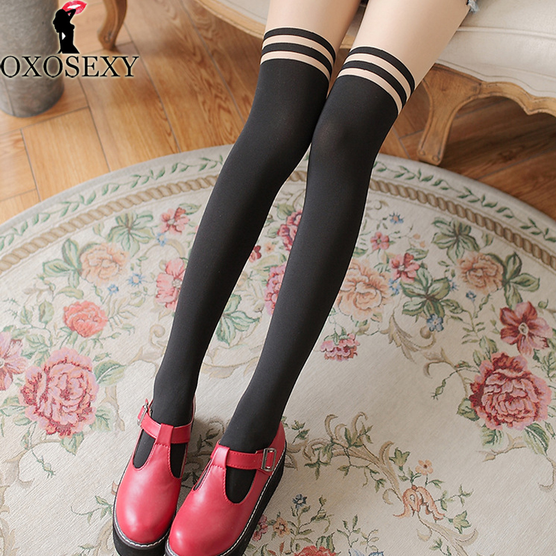 autumn 11 Style Japanese sexy stockings fake stitching Women stockings Fishnet Pantyhose Mesh Thigh High Stocking lingerie 035
