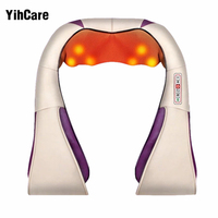 YihCare Multifunction U Shape Electrical Shiatsu Back Neck Shoulder Massager Body Infrared Kneading Massager Home Cars
