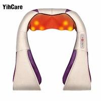 YihCare Multifunction U Shape Electrical Shiatsu Back Neck Shoulder Massager Body Infrared Kneading Massager Home Cars