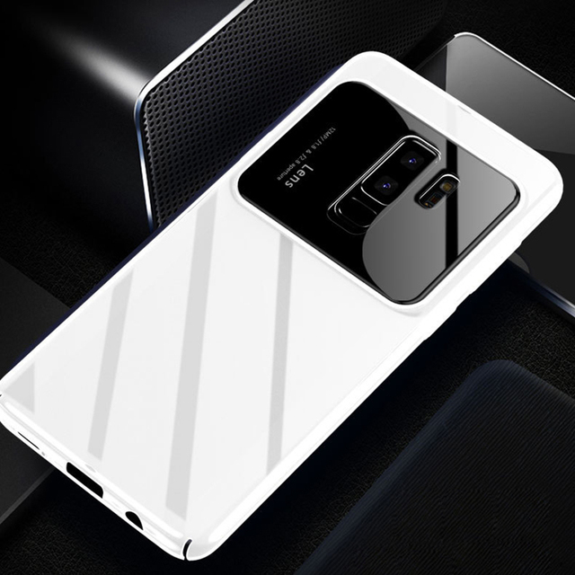 lowest price 227d3 ffc2a US $5.86 |Luxury PC Camera Case For Samsung S9 S9 Plus Back Phone Case  Ultra Thin Shockproof Cover Case For Samsung S8 S8 Plus Note 8-in Fitted  Cases ...