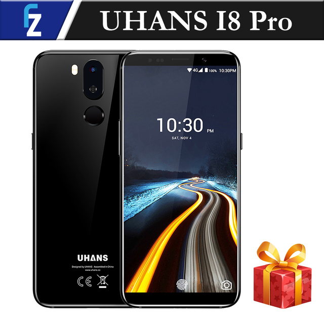 """UHANS I8 PRO Face ID Touch ID 6GB RAM 64GB ROM 5.7"""" HD+Bezel-less MTK6763 Octa-core Android 7.0 4G Smartphone 16MP Dual Rear CAM"""