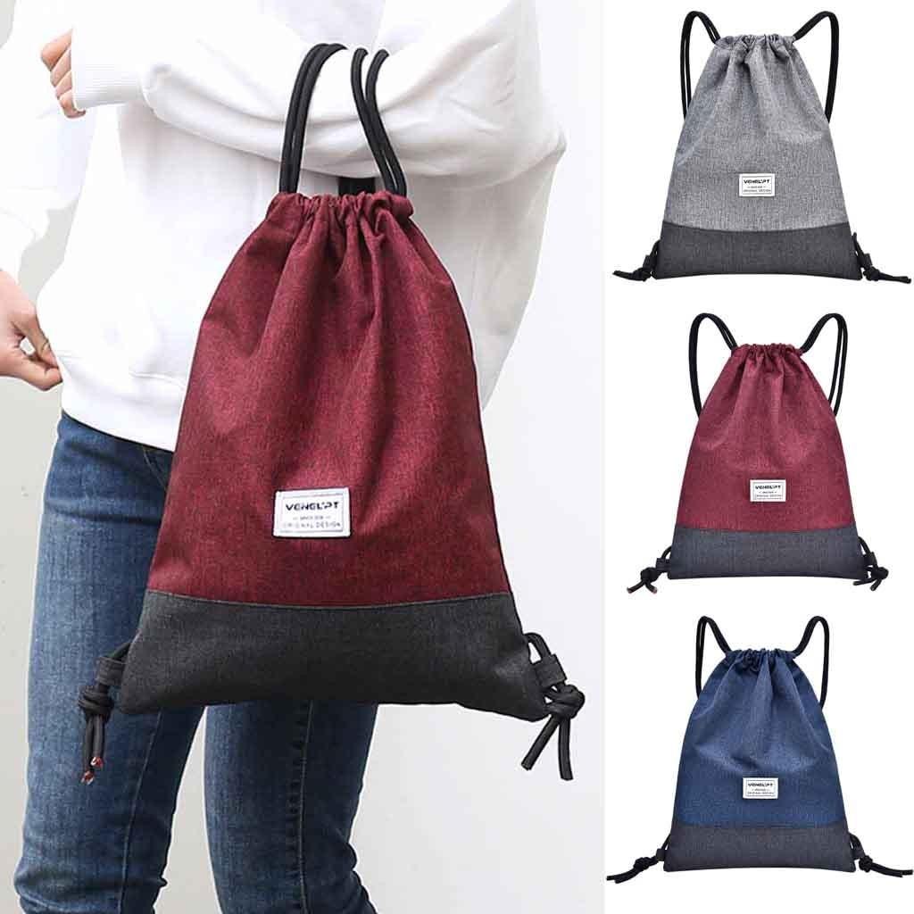 Oxford High Quality Drawstring BackPack Women Men Travel Fitness Sport Rope Shoulder Bag Storage Rucksack Bundle Pocket