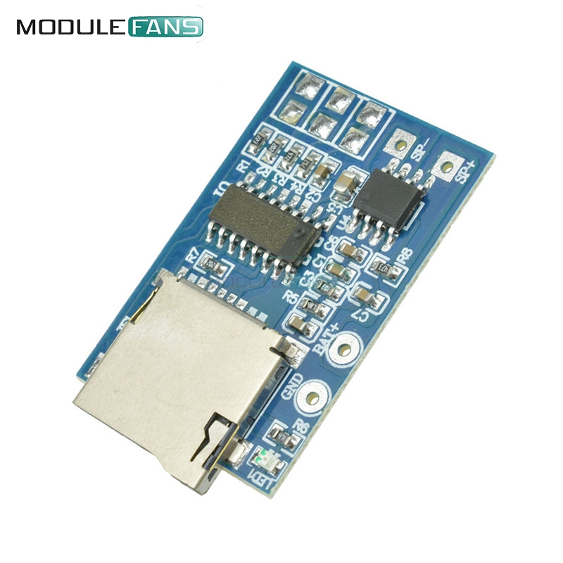 Hard-Working Mp3 Decode Module Dc 3.7v-5v Memory Play W/ Tf Card Socket Mono 2w Gpd2856c Decoding Play With Led Indicator Light Electronic Components & Supplies