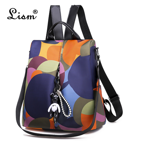 Schoolbag para Meninas 2019 um dos dos Nova Multifuncional Mulheres Mochila Bagpack Impermeável Oxford Feminino Anti Roubo Mochila Mochila Bolsa um dos