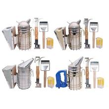Beekeeping tools Four in one suit Bee smoker/Queen bee bottle /Two in one honey fork scraper /Double head scraper Average 1 pcs