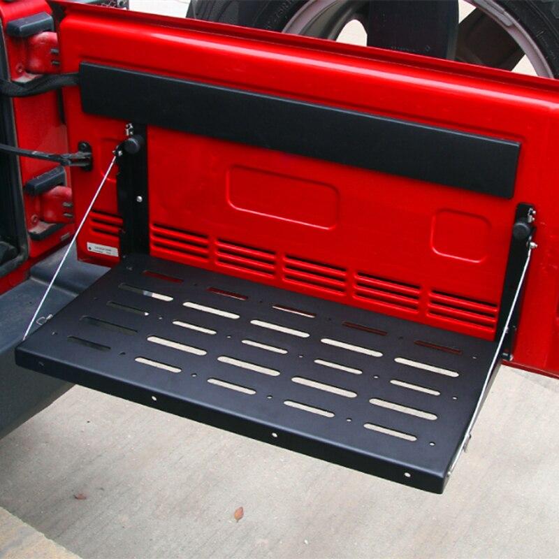 Металлические многоцелевые универсальные таблицы багажника / грузового перевозчика поддержка до 75lb, пригодный для Jeep Вранглер JK 2/4 дверь 2007-2017