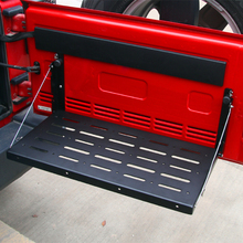 Metal Multi Purpose Flexible Tailgate Table Cargo Carrier Support up to 75lb Fit for Jeep Wrangler
