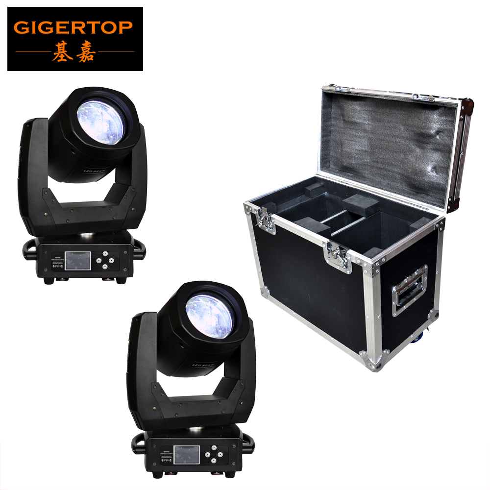 Flight 2in1 Pack 150 Watt Led Moving Head Licht Scanner Strahleneffekt 8 Facet Objektiv 11 Farbe + offene/17 Gobo + offene Farbdisplay