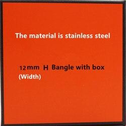 12MM Luxury Stainless Steel Cuff Bracelets&Bangles Wristband Enamel Bangle H Buckle Classic Brand Bracelets LP001