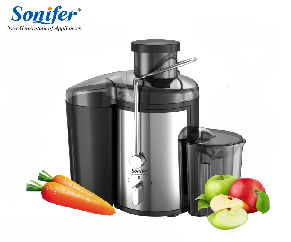 220V Stainless steel Juicers 2 Speed electric Juice Extractor Fruit Drinking Machine For Home Sonifer whole slow juicer 300w 75 cm fruits low speed juice extractor juicers fruit machines