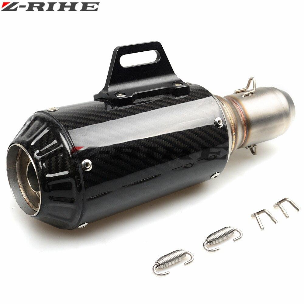 36 51mm Kohlefaser Motorradauspuff Schalldämpfer Modifizierte Auspuffrohr Für Benelli Hurrikan 1130 Blue Dragon BJ300GS Z1000 Z800 - 5