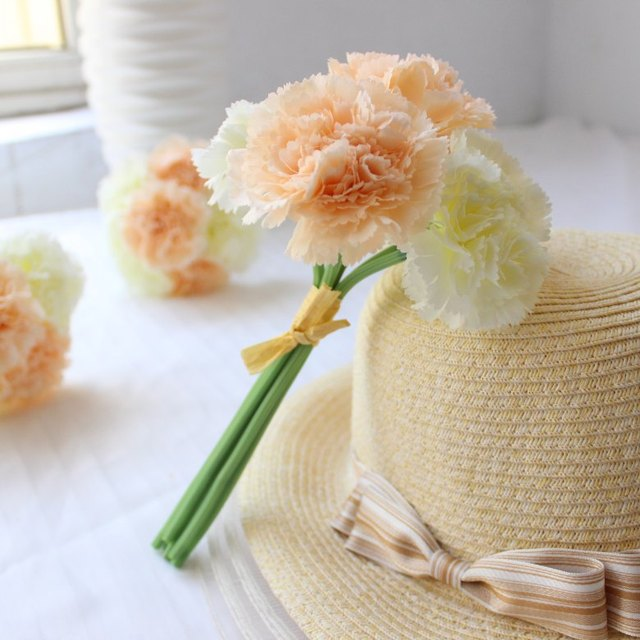 Graceful 6 head Carnation flower bouquet mum flower/wedding flower ...