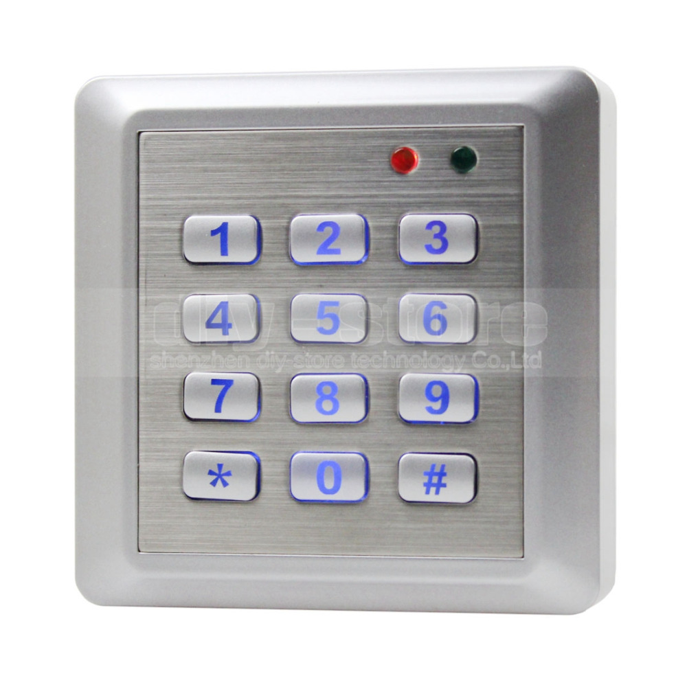 ФОТО DIYSECUR NEW Waterproof RFID Reader Access Control System Keypad + 10 ID Cards Key Fobs