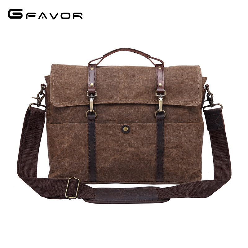 High Quality Men Vintage Canvas Handbags Casual Shoulder Bag Waterproof Crossbody Bag 2018 Men Laptop Briefcase Bag Tote Handbag women handbag shoulder bag messenger bag casual colorful canvas crossbody bags for girl student waterproof nylon laptop tote