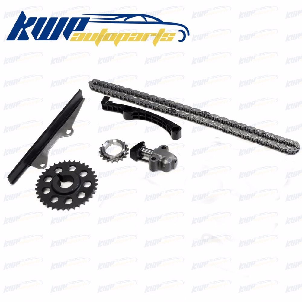 TIMING CHAIN KIT for 85 95 TOYOTA 4RUNNER PICKUP CELICA 2 4L SOHC 22RE  22REC 22RTEC W/ HD STEEL RAIL GUIDE-in Timing Components from Automobiles &