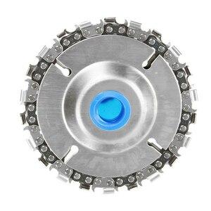 Image 2 - Tekerlekler fincan taşlama diski ekipman yedek oyma alaşım gümüş W/zincir kesme aşındırıcı açı kesme testere