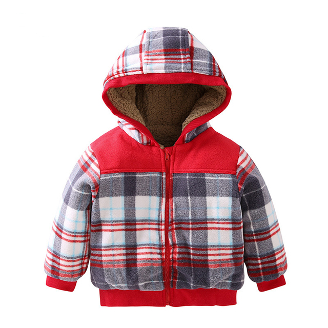 f6b4e0abc 2016 Baby Jacket Plaid Infant Coat Boy Snowsuit Newborn Thicken Warm ...