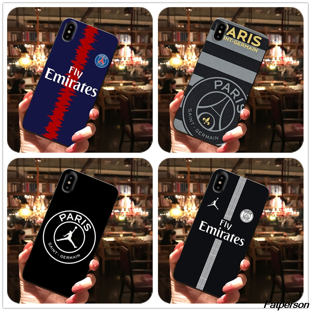 26378642535 Soft TPU Phone Case For Huawei P10 P20 30 Lite PSG Paris Football Jersey