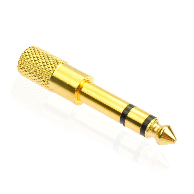 1 piece Gold plated 6.35mm 1/4Male plug to 3.5mm 1/8Female Jack Stereo Headphone Amplifier Audio Adapter,6.35 to 3.5 converter