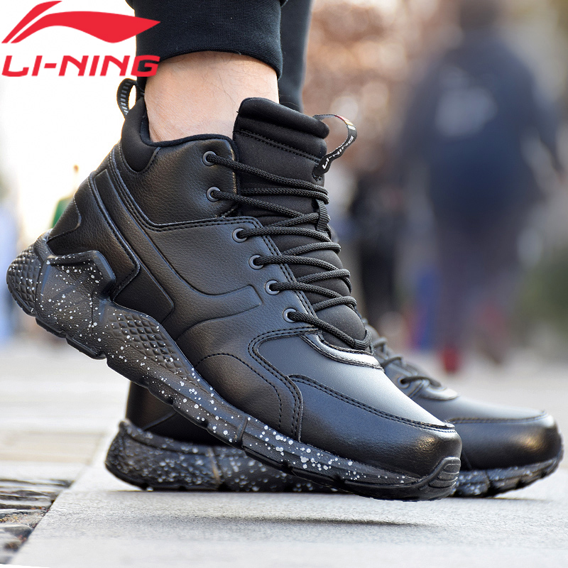 Li-Ning Men LN VOLCANO Lifestyle Shoes Warm Fleece Durable Anti-slip LiNing Comfort Sport Shoes Winter Sneakers AGCN117 YXB255