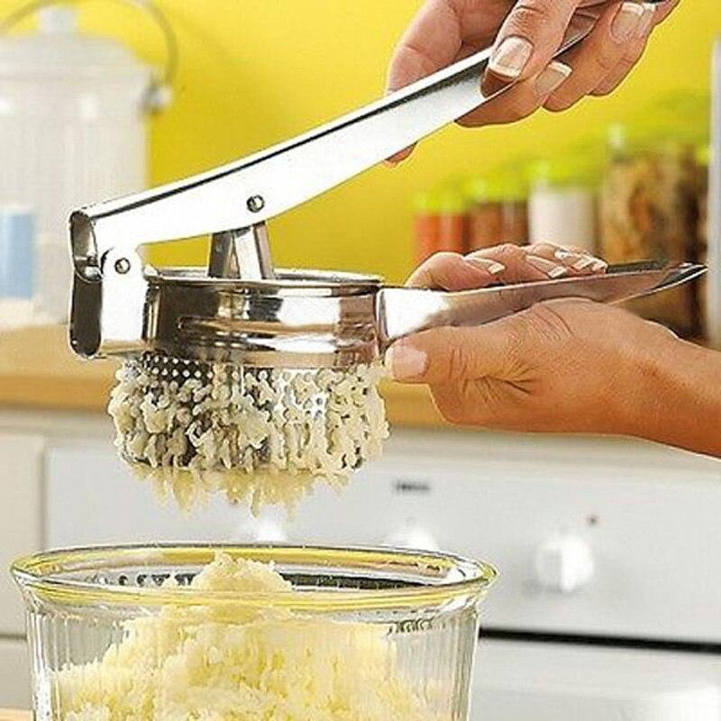 Kartoffel Mashers Ricers Küche Kochen Werkzeuge Edelstahl Druck Schlamm Püree Gemüse Obst Presse Maker Knoblauch Presser