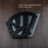 3 Layer Shoe Bucket Rack Accessories Hardware Shoe Flip Frame Plate Turnover Bracket Three Hidden Layer