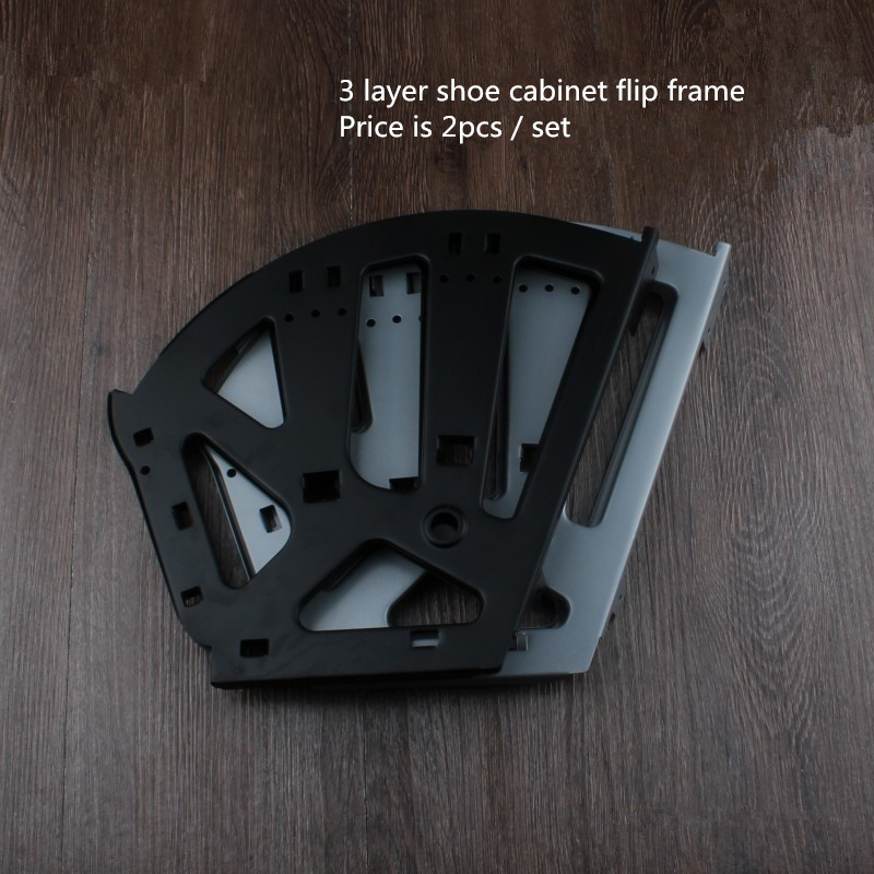 Free shipping 3 layer shoe bucket rack accessories Hardware shoe flip frame plate turnover bracket three hidden layer rack! impact of job satisfaction on turnover intentions