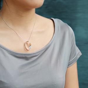 Image 2 - INATURE, collares con colgante de La Hormiga Moebius, collares con gargantilla de cadena de plata fina 925 para mujer, joyería
