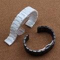Чисто керамические 14 мм 16 мм 18 мм 20 мм 22 мм керамический ремешок для часов белый черный ремешок Бабочки Пряжки для алмазный браслет мужчины женщины