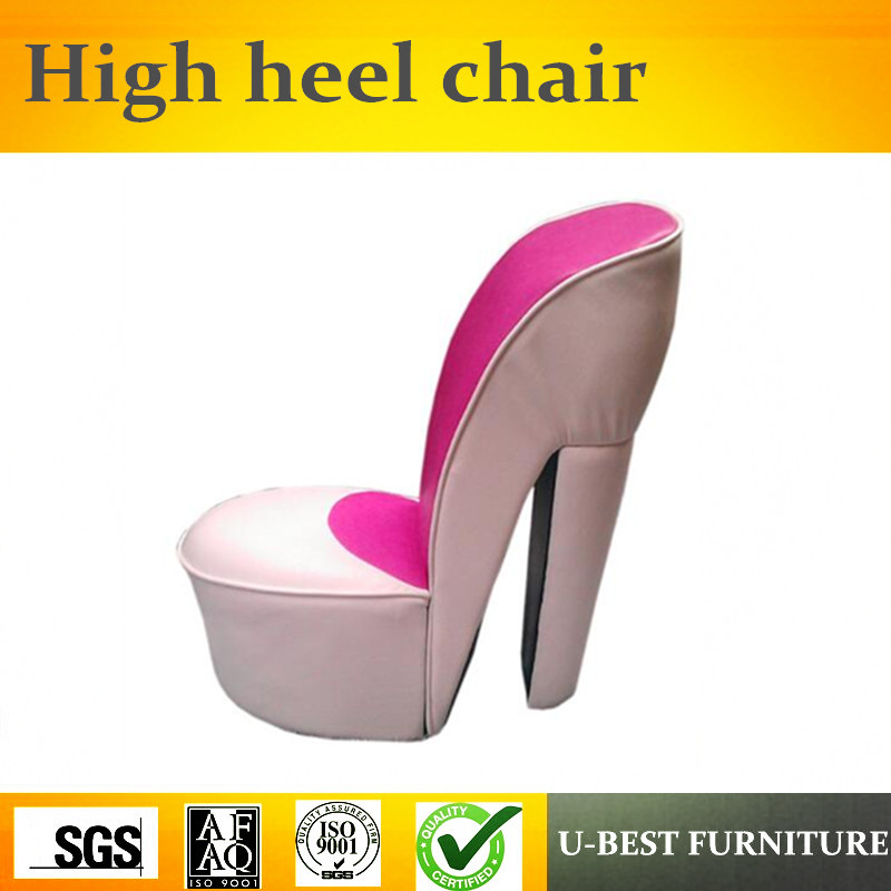 U-BEST High Quality Comfortable Relaxing Fashion High Heel Shoe Chair,Sexy Chair Lounge Stiletto Shoe Chair